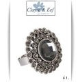 Clayre & Eef - Ring - Rond - Black Diamond crystals